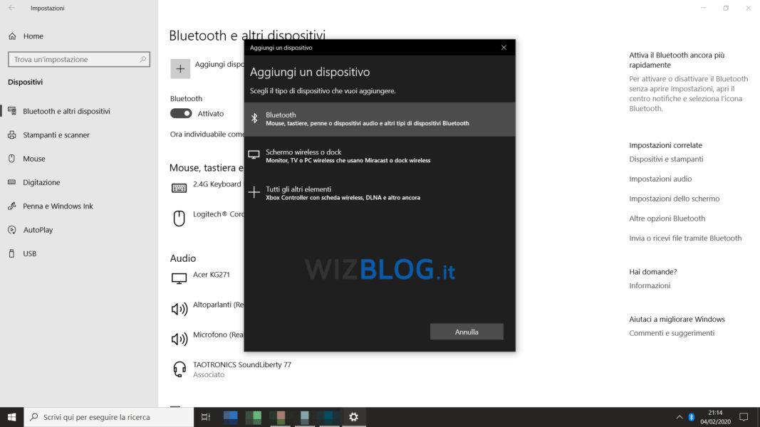 Come attivare il Bluetooth su Windows 10